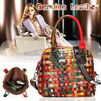 Women Genuine Leather Handbag Crossbody Shoulder Bag Travel Tote Purse Satchel