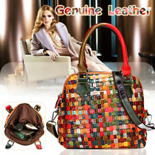 Women Genuine Leather Handbag Crossbody Shoulder Bag Travel Tote Purse Satchel