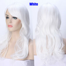 Anime Cosplay Curly Wavy Full Wig Straight Synthetic Hair Wigs Party Blonde Red