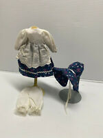 "Antique/Vintage Style 3 pc Vintage Style Doll Dress Fashion for 7"" to 9"" doll"