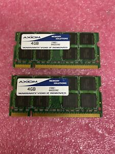 4GB X 2, Axiom DDR2 2Rx8 800MHZ PC2 6400S SODIMM LAPTOP MEMORY