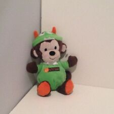 """NEW NO TAGS Baby's 1st Halloween Carters Monkey Plush 8"""" Rattle First Costume"""