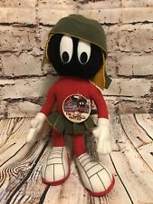 """Vtg. Nwt. 1991 Looney Tunes Marvin The Martian Posable Plush 14"""" - By 24K"""