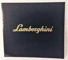 Lamborghini Countach 5000 Quattrovalvole Prestige Brochure - Black 1985 Rare!