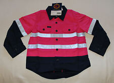 Ritemate Australia Kids Pink Navy Long Sleeve Shirt Reflective Size 1 - 2 New