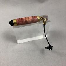 Mini Stylus with Earphone plug Handcrafted Madrone Burl Wood