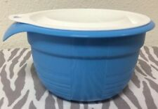 Tupperware Mixing Storage Serving Bowl Small Bowl Blue w/ White Seal 20oz New