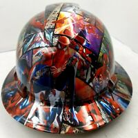 FULL BRIM Hard Hat custom hydro dipped , NEW SPIDERMAN SUPER HOT NEW