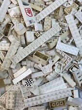 Assorted White Lego Lot Bricks & Parts & Pieces Bulk 2 LBS Pounds Mixed Plates