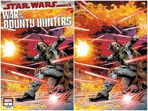 STAR WARS WAR OF THE BOUNTY HUNTERS 1 PAGULAYAN VIRGIN VARIANT SET NM LTD 501