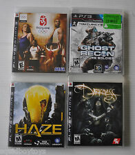 lot of 3 PLAYSTATION 3 Games - Haze, Darkness, Ghost Recon, Beijing 2008 - PS3