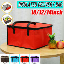 10/12/14inch Hot Food Delivery Takeway Bag Kebab Indian Chinese Pizz
