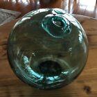 Fishing Float JAPANESE GLASS Approximately 30cm in diameter, green G1337