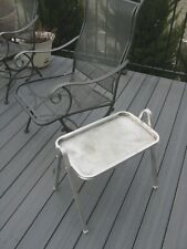 Set 4 Vintage 50s STACKING ALUMINUM PATIO DECK SIDE TABLES mid-century modern