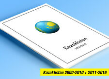 COLOR PRINTED KAZAKHSTAN 2000-2010 + 2011-2016 STAMP ALBUM PAGES (98 ill. pages)