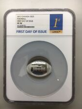 2017 Canada $25 Football First Day Of Issue NGC PF70
