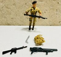 """1986 Lanard The Corps! Action Figure with Guns Backpack Accessories Lot RARE 4"""""""