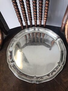 Buccellati Italian Sterling Silver Round Tray, 12 inches