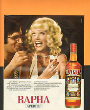 Publicité Advertising 1975  RAPHA APERITIF RIVESALTES