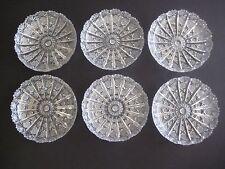 """Set Of 6 European, Czech/Turkish Cut Crystal Bowls 5 3/4"""" Diameter X 1 1/4"""" H"""