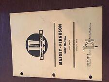 I&T MASSEY FERGUSON SHOP TRACTOR SERVICE MANUAL MF 1150
