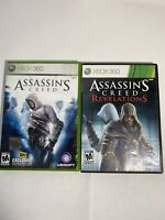 Assassins Creed Game For Xbox 360 Lot Of 2 Original And Revelations Complete