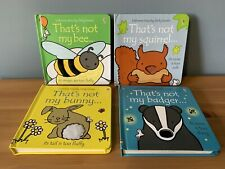 THATS NOT MY BOOK BUNDLE X4 BEE BADGER BUNNY SQUIRREL USBORNE TOUCHY FEELY