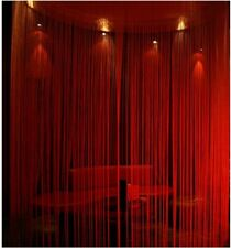 Clearance dark red fringe string curtain new free shipping