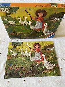 Vintage Ravensburger Puzzle Otto Maier Benelux B.V.Amersforrt The Goose Girl