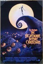NIGHTMARE BEFORE CHRISTMAS MOVIE POSTER 2 Sided ORIGINAL 27x40 TIM BURTON