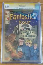 FANTASTIC FOUR #45 CGC 6.0 SS SIGNED STAN LEE -1963