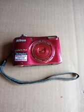 Nikon COOLPIX L28 20.1MP Digital Camera - Red  NOT TESTED