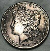 1884 O Morgan Silver Dollar $1 ~ Toned Uncirculated ~ Great Details & Patina