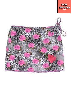 SELINI ACTION By ELENI BALERBA Swim Skirt Size XS 3Y HANDMADE Patterned Self Tie
