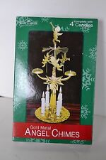 Kurt Adler Gold Metal Angel Chimes New in Box Candles included Cherubs