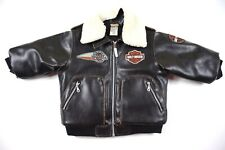fa64d9469 Harley Davidson Faux Leather Motorcycle Jacket Youth Toddler Infant 18  months