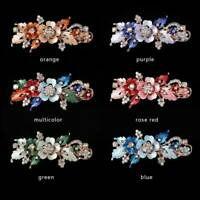 Cute Crystal Flower Barrettes Hair Clip Resin Hairpin Headwear Accessories Gift