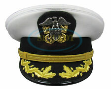 WWll US NAVY COMMANDER ADMIRAL RANK WHITE HAT CAP in all sizes