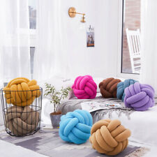 Knot Decorative Pillows Round Ball Cushion Crocheted Cojines For Kids Bedroom