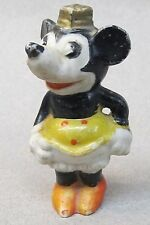 "Disney Minnie Mouse long nose version bisque figurine 1930's Japan 3"" tall"