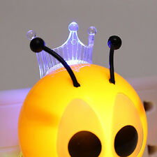 Lovely Cute Insect Bee Night Light Wall Lamp LED Night Lamp for Kids EU Plug
