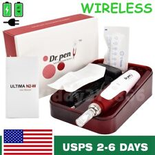 Wireless Dr.Pen Derma Pen Stamp Auto Anti Aging Acne Skin Therapy 2pcs Needles