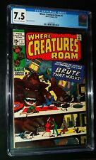 WHERE CREATURES ROAM #1 1970 Marvel Comics CGC 7.5 VF-  !