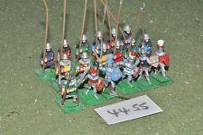25mm medieval 18 infantry (4455) metal painted