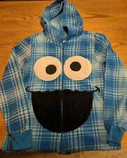 Hooded Cookie Monster Fleece Pajamas Halloween Costume Sesame Street Size Small