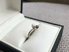 9ct white gold, Pearl And Diamond Ring