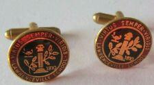 Ben Silver Lawrenceville school Gold Filled Enamel Cufflinks