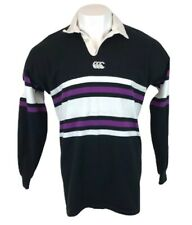 Vintage New Zealand Rugby Shirt Long Sleeve Black Purple Canterbury XL Mens