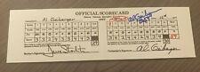 AL GEIBERGER AUTOGRAPHED REPLICA SCORE CARD W/COA  MR. 59