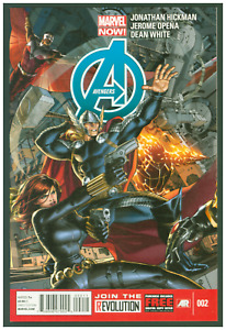 Avengers #2 VF/NM Marvel Comics 2013 Black Widow & Thor Cover